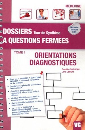 Orientations - Diagnostiques  Tome 1 - vernazobres grego - 9782818304129 -