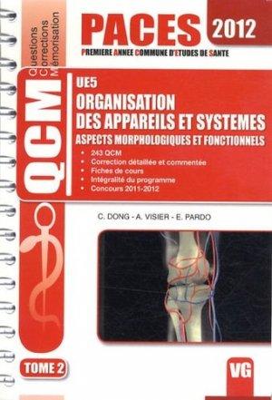 Organisation des appareils et systèmes UE5 Tome 2  - 2012 - vernazobres grego - 9782818306109 -