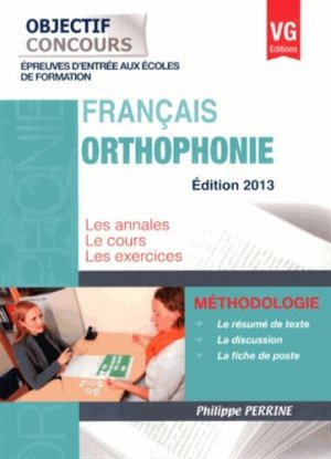 Orthophonie 2013 - vernazobres grego - 9782818309490 -
