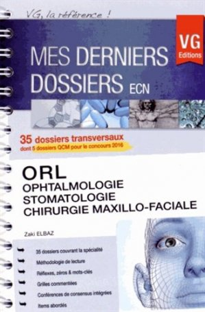 ORL, ophtalmologie, stomatologie, chirurgie maxillo-faciale - vernazobres grego - 9782818312797 -