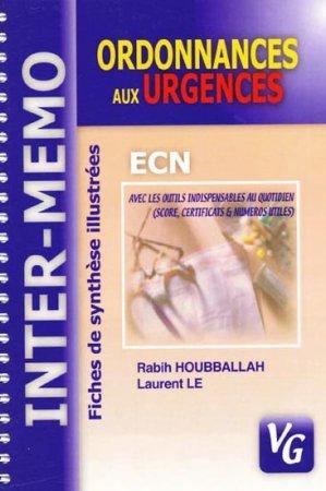 Ordonnances aux urgences - vernazobres grego - 9782841366064 -