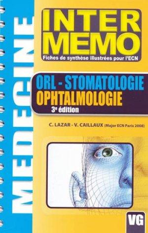 ORL -Stomatologie - Ophtalmologie - vernazobres grego - 9782841369799 -