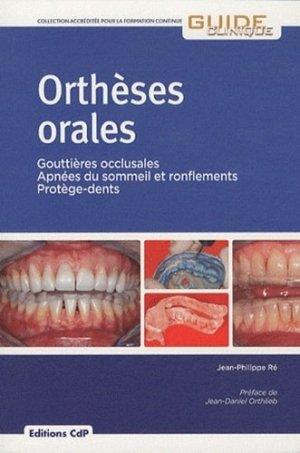 Orthèses orales - cdp - 9782843611742