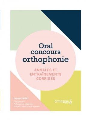 Oral concours orthophonie: annales et entraînements corrigés - cit'inspir - 9782919675593 -