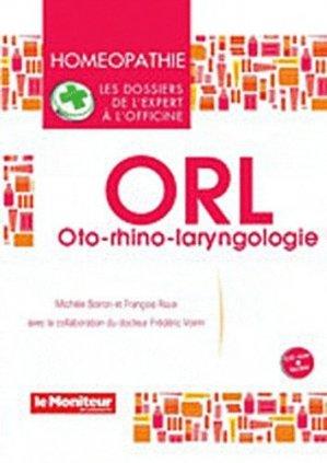ORL - oto-rhino-laryngologie - le moniteur des pharmacies - 9791090018204 -