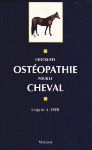 Ostéopathie pour le cheval - maloine - 9782224033354 -