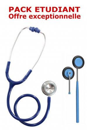 Pack médecine 2 - Stéthoscope Magister adulte + Marteau réflex Spengler  - BLEU MARINE - spengler - 2224425836244 -