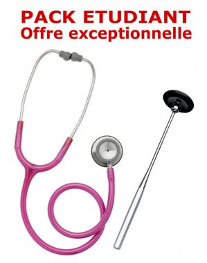 PACK ETUDIANT - Stéthoscope Magister + Marteau réflex Spengler ADULTE - ROSE - spengler holtex  - 2224428432788 -