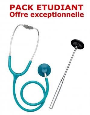 Pack médecine 2 - Stéthoscope Magister adulte VERT + Marteau réflex Spengler - spengler - 2224428436847 -