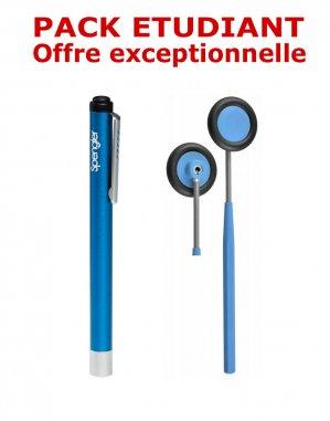 PACK ETUDIANT - Marteau à réflexes Babinski adulte 25 cm Spengler + Lampe stylo à LED Litestick Spengler - BLEU - spengler holtex  - 2224429199697 -