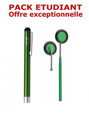 PACK ETUDIANT - Marteau à réflexes Babinski adulte 25 cm Spengler + Lampe stylo à LED Litestick Spengler - VERT - spengler - 2224429207842 -