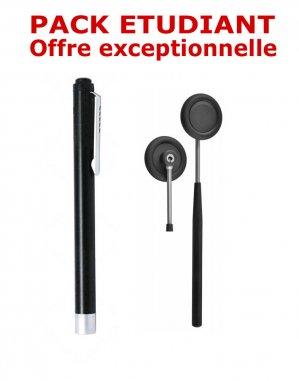 Petit pack étudiant médecine - Marteau à réflexes Babinski + Lampe stylo à LED - NOIR - spengler holtex - 2224429215403 -