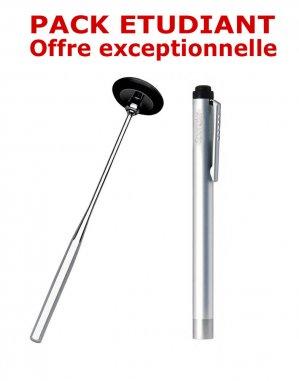 Petit pack étudiant médecine - Marteau à réflexes Babinski + Lampe stylo à LED Litestick - INOX - spengler - 2224429225013 -