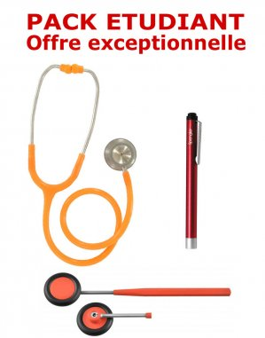 PACK ETUDIANT - Stéthoscope Magister - Marteau réflex Spengler  - Lampe stylo à LED Litestick Spengler  - ORANGE-spengler-2224429330731