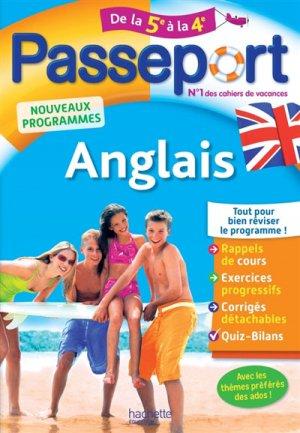 Passeport Anglais de la 5e à la 4e - hachette - 9782017016342 -
