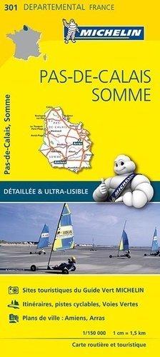Pas-de-Calais, Somme. 1/150 000 - Michelin Editions des Voyages - 9782067202023 -