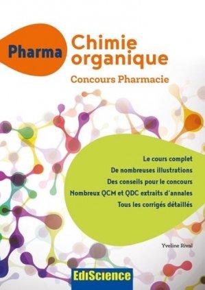 PACES Chimie organique - Concours Pharmacie - ediscience - 9782100748860 -