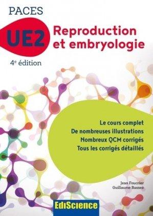 PACES UE2 Reproduction et Embryologie - ediscience - 9782100763313 -