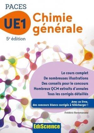 PACES UE1 Chimie générale - ediscience - 9782100763320 - chimie organique, chimie générale, biochimie,