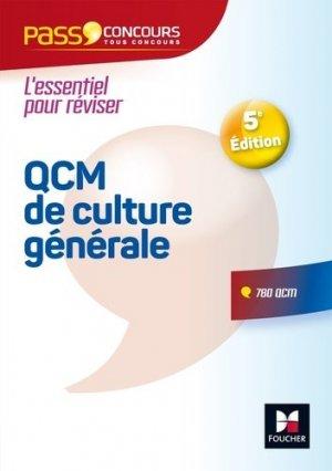 Pass'Concours - QCM de culture générale - foucher - 9782216148042 -