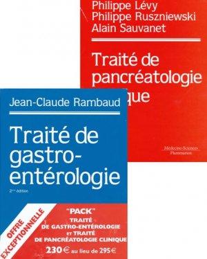 Pack Traité de pancréatologie cliniqueTraité de gastroentérologie - lavoisier msp - 9782257113009 -