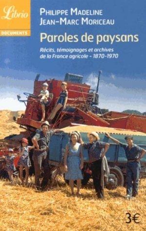 Paroles de paysans - librio - 9782290095355 -