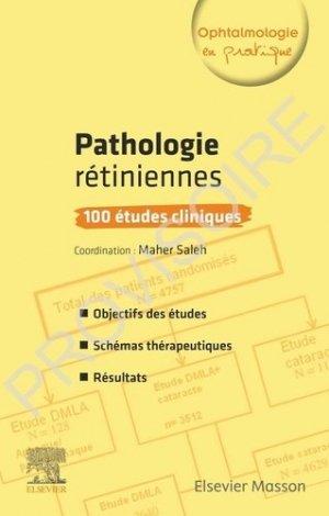 Pathologies rétiniennes - elsevier / masson - 9782294761973 -