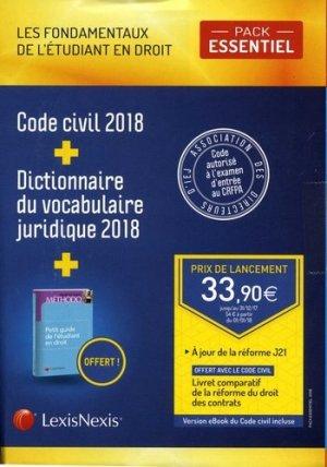 Pack Essentiel Les fondamentaux de l'étudiant en droit - lexis nexis (ex litec) - 9782711028542 -