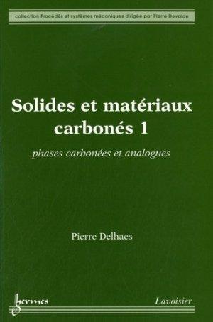 Pack 3 tomes Solides et matériaux carbonés - Hermes Science Publications - 9782746223721 -