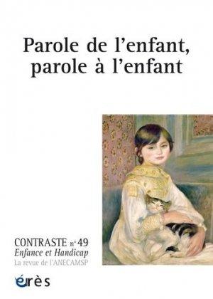 Parole de l'enfant, parole à l'enfant - eres - 9782749263311 -