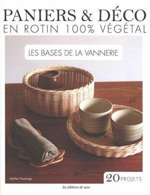 Paniers & déco en rotin 100% végétal - de saxe - 9782756534978 -