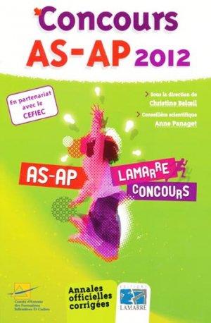 Pack Concours AS-AP  2011 + Concours AS-AP 2012 - lamarre - 9782757304945 -