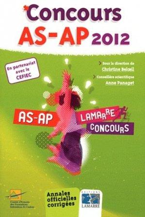 Pack Concours AS-AP 2012 + L'oral du concours AS-AP - lamarre - 9782757305003