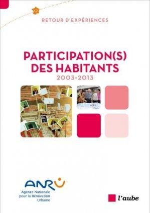 Participation(s) des habitants, 2003-2013 - l'aube - 9782815914024 -