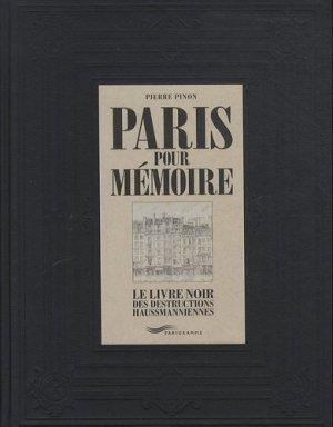 Paris pour mémoire - parigramme - 9782840967958 -