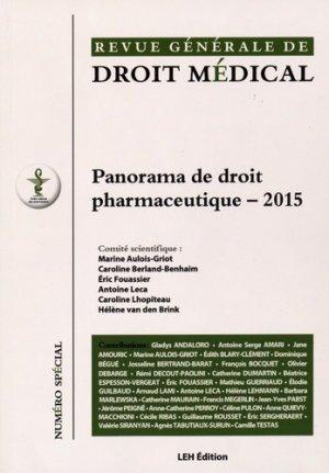 Panorama de droit pharmaceutique 2015 - les etudes hospitalieres - 9782848746333 -