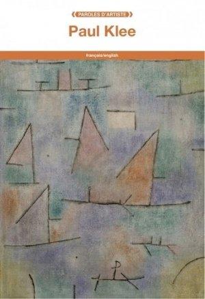 Paul Klee. Edition bilingue français-anglais - fage - 9782849754054 -