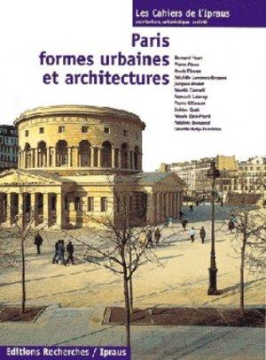 Paris, formes urbaines et architectures - Recherches éditions - 9782862220338 - rechargment cartouche, rechargement balistique