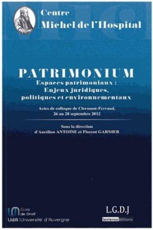 Patrimonium. Espaces patrimoniaux : enjeux juridiques, politiques et environnementaux - presses universitaires clermont-ferrand - 9782912589378 -