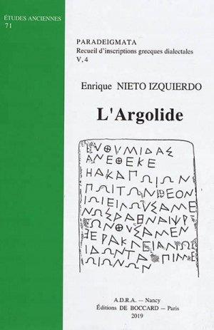 Paradeigmata : recueil d'inscriptions grecques dialectales - association pour la diffusion de la recherche sur l'antiquite - 9782913667563
