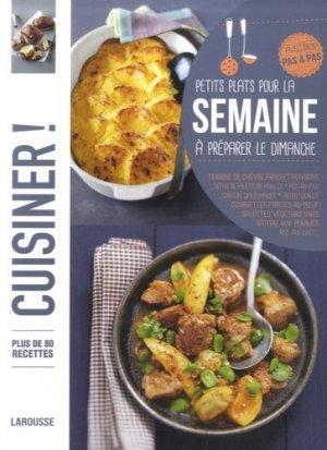 Petits plats pour la semaine à préparer le dimanche - Larousse - 9782035914460 -