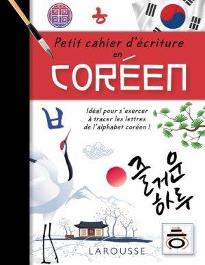 Petit cahier d'écriture en coréen - larousse - 9782035956712