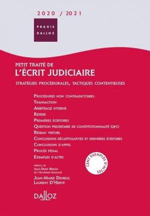 Petit traité de l'écrit judiciaire. Stratégies procédurales, tactiques contentieuses, Edition 2020-2021 - dalloz - 9782247187836 -