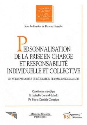 Personnalisation de la prise en charge et responsabilité individuelle et collective - lavoisier msp - 9782257204349 -