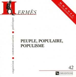 Peuple, populaire, populisme - CNRS - 9782271063465 -
