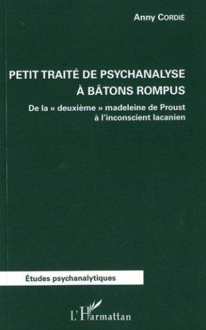 Petit traité de psychanalyse à batons rompus - l'harmattan - 9782343152691 -