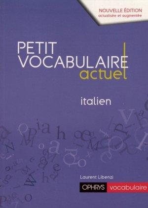 Petit vocabulaire actuel italien - ophrys - 9782708015432
