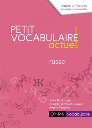 Petit vocabulaire actuel russe - ophrys - 9782708015494