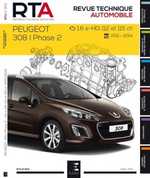 Peugeot 308I Ph.2 -1.6 e-HDI 112et115ch (depuis 04/11) - etai - editions techniques pour l'automobile et l'industrie - 9782726801659 -