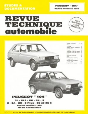 Peugeot ''104'' - etai - editions techniques pour l'automobile et l'industrie - 9782726840153 -